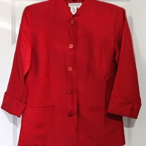 Coldwater Creek 100% Silk Jacket Size 6